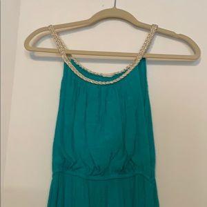 "Green ""Grecian style"" maxi dress"